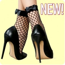 Fiocco- fishnet socks with a bow