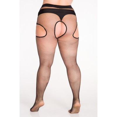 Size++ Strip - Tights - Fishnet small