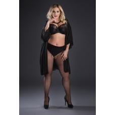 Size++ Pantyhose - Crotchless - Fisnet- small